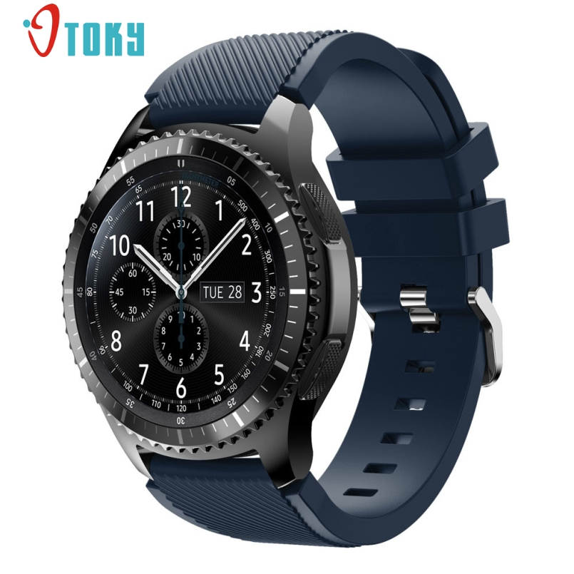 Excellent Quality New Fashion Sports Silicone Bracelet Watch Strap Band For Samsung Gear S3 Frontier Dec 01 excellent quality rubber wrist strap for samsung gear s3 frontier silicone watch band bracelet band 22mm