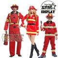 Семейные Сопоставления Хэллоуин Косплей Костюмы Fireman Clothing Производительность Одежда Равномерное Партия Костюм Clothing Платье Disfraces