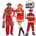 Family Matching Halloween Cosplay Costumes Fireman Clothing Performance Clothes Uniform Party Suit Clothing Dress Disfraces