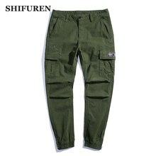SHIFUREN Mens Cargo Pants Harem Casual Baggy Pants Male Cotton Joggers