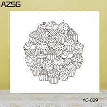 AZSG Delicious Cake / Snack Clear Stamps/Seals For DIY Scrapbooking/Card Making/Album Decorative Silicone Stamp Crafts