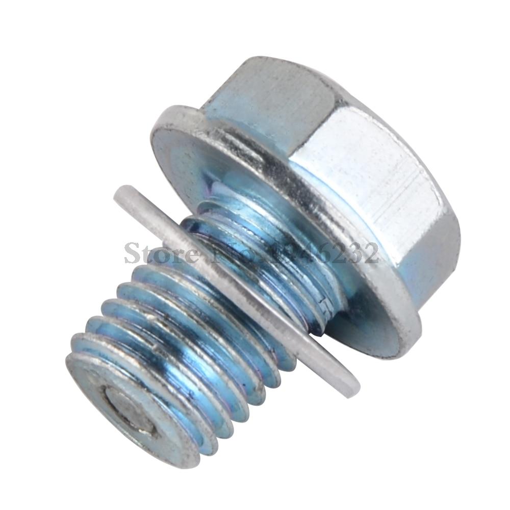 Magnetic Oil Pan Drain Plug Bolt M14x1.5 Fit For Honda CB GL CBR XL XRV NTV VT