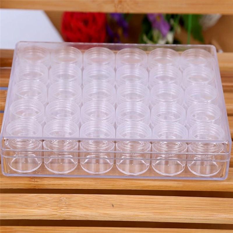 30Pcs Wholesale Empty Cosmetic Container Plastic Jar Pot Eyeshadow Makeup Travel Face Cream Lotion Refillable Bottle Box