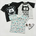 6pcs/lot Baby girls T shirts kids children clothing batman dinosaur tops boys tee shirts 0513 sylvia 531507187831
