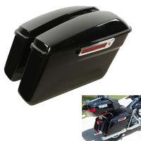 Motorcycle Vivid Hard Saddle Bags Trunk W/ Latch keys For Harley Touring Models 2014 2018 Road King Street Glide FLT FLHT