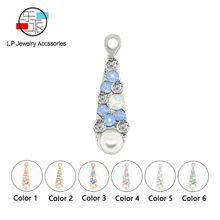 Candy color Water drop pendant hand made jewelry assembly accessories findings earring necklace Bracelet making diy jewelry new 50pcs lot gold silver color water drop shaped copper accessories connectors for diy handmade jewelry earring making findings