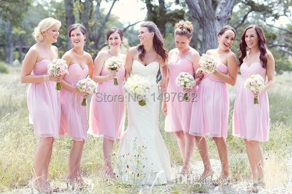 Short pink bridesmaid dresses online shopping-the world largest ...