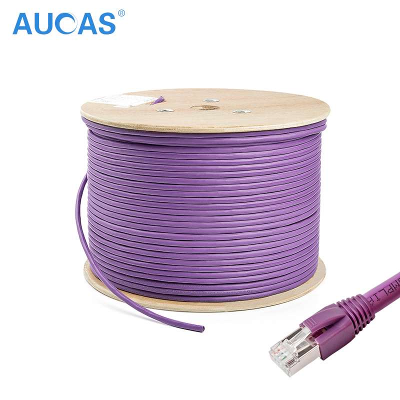 AUCAS 10m 20m 30m 4 pairs twisted Cat7 RJ45 Cable FTP Solid Lan Ethernet Cables Network cable Cat7 Free Shipping aucas network ethernet cat6 cable ftp ethernet network cable shielded lan cable cat6 10m 20m 30m