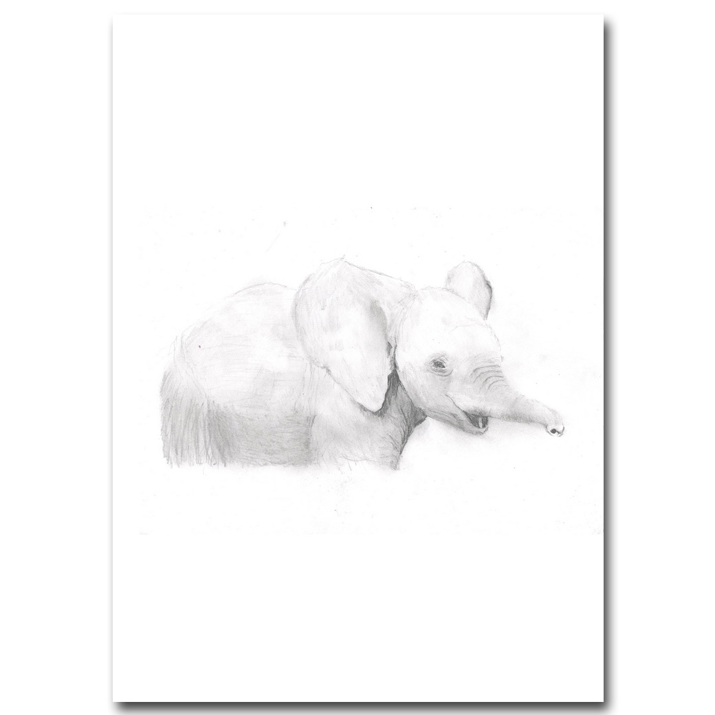 online shop elephant kawaii animal poster simple quote canvas