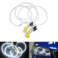 ANGRONG Free Shiping CCFL Angel Eyes Lamp Lights Ring For BMW E46 White Lighting Non Projector(CA012)