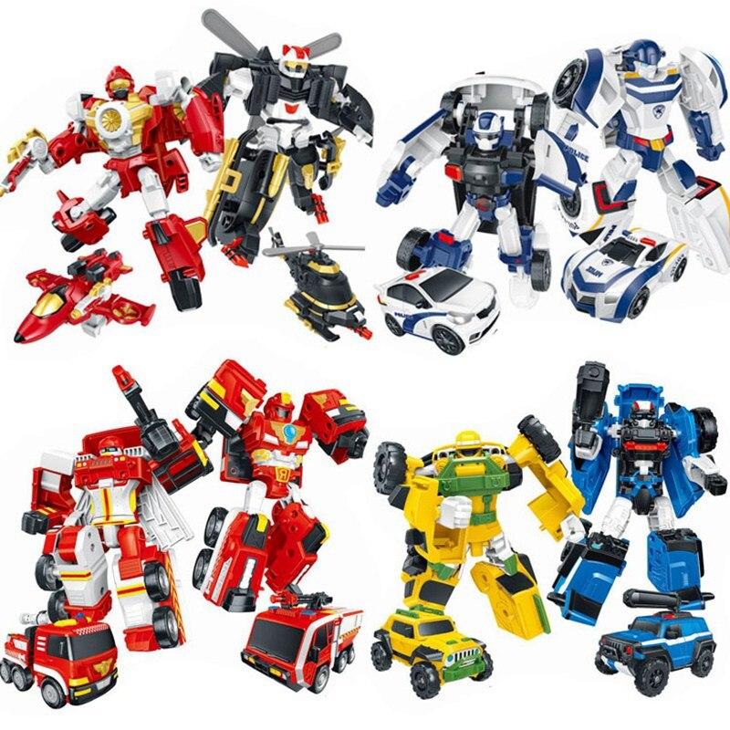 8Pcs/Set Tobot Robot Toy Transformation Action Figure Toys Tobot 3 Generation 8 Style MINI Car Robot Deformation Model Toy