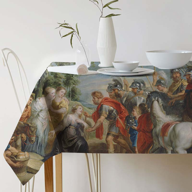 Pieter Paul Rubens Painting Art tablecloth Ink Tablecloth for table Home Protection and decoration Elegant Table cover