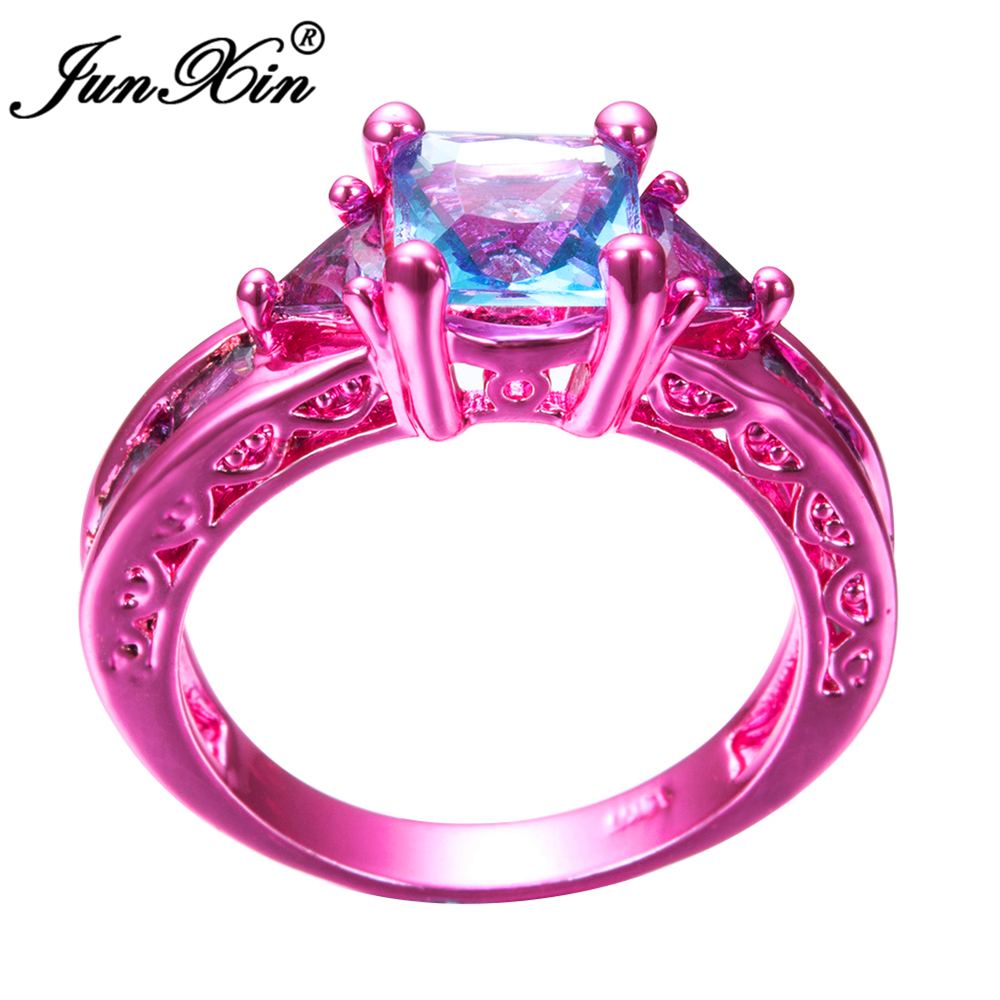 Baby Blue And Pink Wedding Rings | www.topsimages.com
