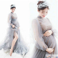 Envsoll Maternity Dresses Lace Photo Shoot Wedding Party Elegant Long Pregnant Women Dress for Showers Maternity Photo Shooting