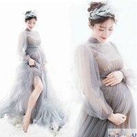 Envsoll Maternity Dresses Lace Photo Shoot Wedding Party Elegant Long Pregnant Women Dress for Showers Maternity Photo Shooting