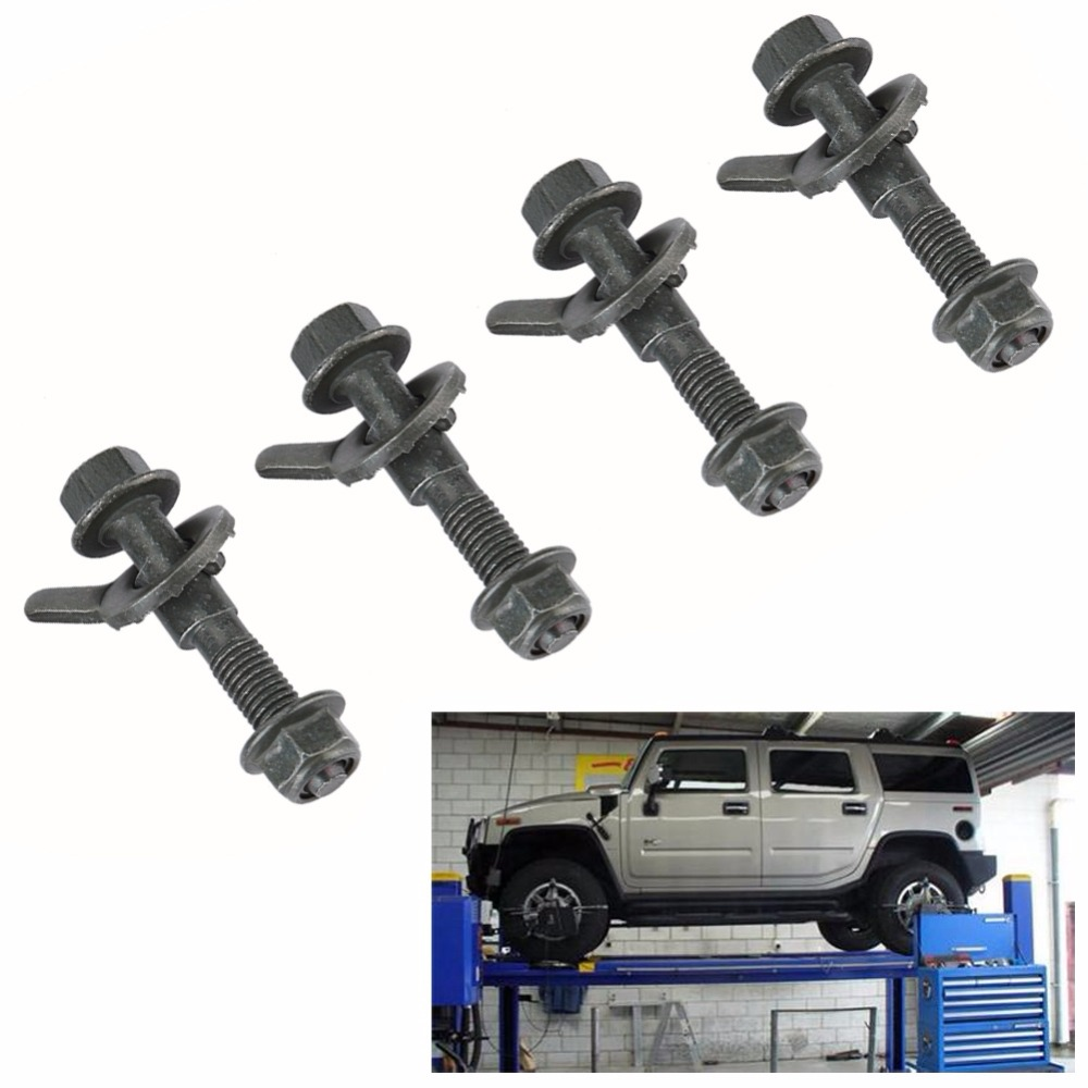Camber Alignment Kit 5pcs 12mm Vehicles Steel Four Wheel Alignment Adjustable Camber Kit Cam Bolt Green