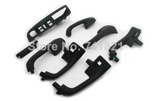 Интерьер поручень комплект Сатин черный для Volkswagen для VW Гольф-Джетта МК5 МК5