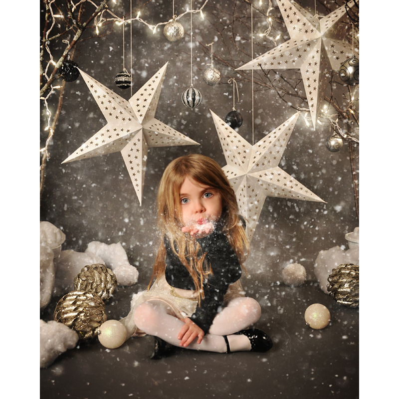 Vinyl Photography Background Snowflake Christmas star Computer Printed children Photography Backdrops for Photo Studio F-2213 2m 3m vinyl backdrops for photography christmas background photo studio prop hu 05356