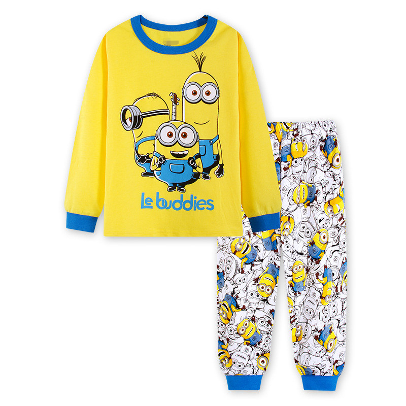 Boys Despicable Me Minions Mania Long Pjs Cotton Pyjamas 3 to 8 Years