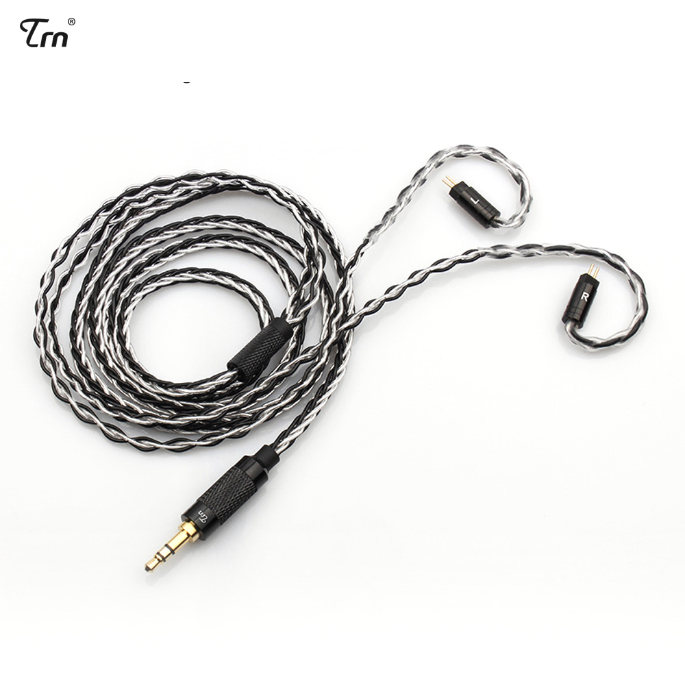 Earphone Accessories Liberal Trn Mmcx/2pin Connector 3.5/2.5 Balanced 8 Core Copper Silver Plated Mixed Cable For Trn Im1/v80/v20 Es4 As10 Zs10 Ba10 Ebx M6 High Quality And Inexpensive