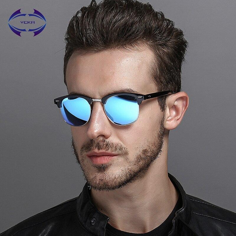 VCKA классический мужской поляризованные очки Для мужчин Для женщин Винтаж открытый квад ...