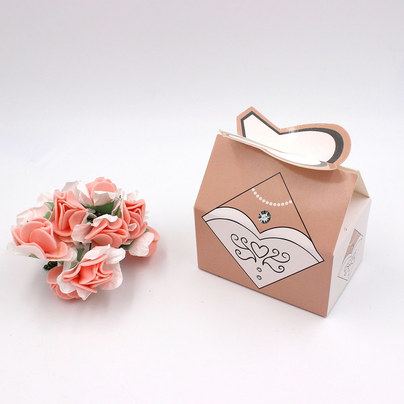 100pcs Paper Candy Box Bride Groom Dresses Packing Sweet Bag Wedding Favors Gift Boxes For Guest Party Decoration (6)