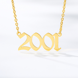Jewelry Special Date Year Number Necklace for Women 1994 1995 1996 1997 1998 1999 from 1980 to 2002 Collares