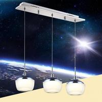 Sıcak Satış 1/3/6/9/12 kafaları için apple şekli akrilik led kolye ışık yemek Odası oturma odası AC 80-265 V 1074