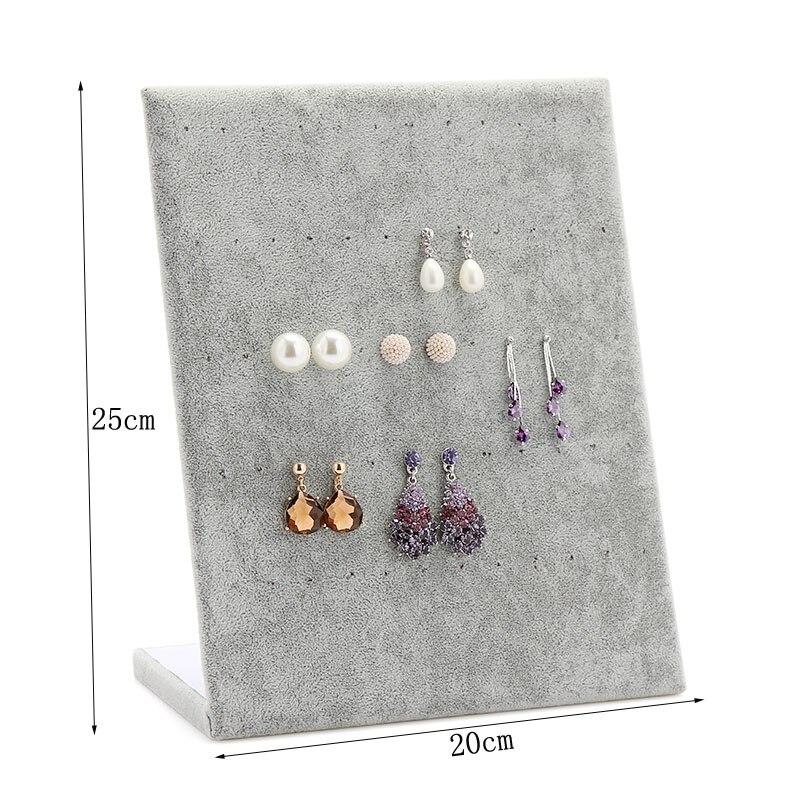 Jewelry Frame Red Black Velvet Earrings Holder Earring Display Stand Shelf Show Case Organizer Tray In Packaging From