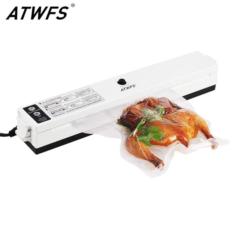 Food Vacuum Sealer Machine Home Food Sealer Saver Kitchen Vacuum Packing Machine Film Contanier Including 15pcs Free Bags