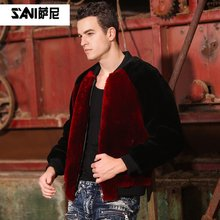 Male sheepskin fur coat mens real sheepskin coat Genuine winter fur coat mens natural fur coat Plus size 5XL 6XL 7XL 8XL(China)