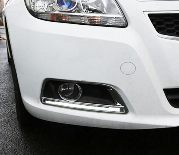 Car styling LED DRL Daytime Running Light For Chevy Malibu Fog Lamp DRL 2012 2013 2014 2015 2016 2pcs