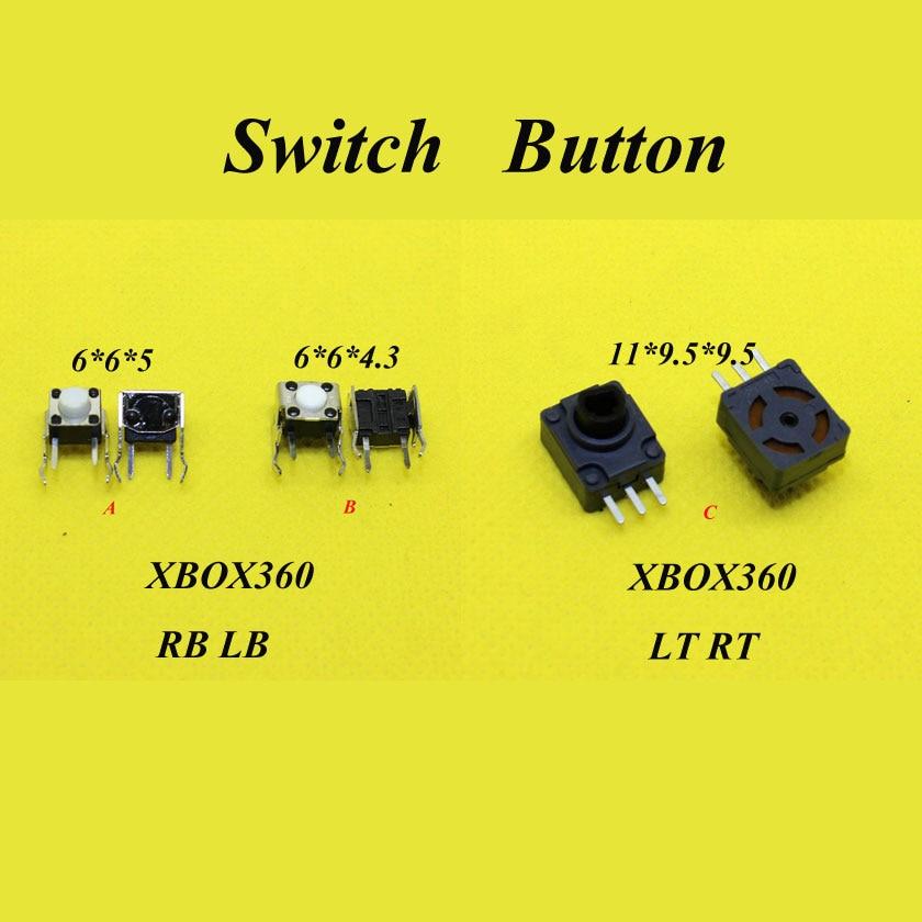 цена на For Microsoft Xbox 360 Xbox360 Controller RB LB Bumper Button Switch/LT RT Trigger Potentiometer Switch Repair