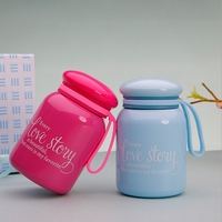 LOVE STORY CUTE AND PORTABLE VERSION OF THE CUTE MINIATURE BELLY CUP LADIES STUDENTS CREATIVE PORTABLE