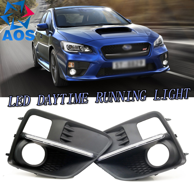 2PCs/set car styling AUTO LED DRL Daylight Car Daytime Running light set For Subaru WRX 2013 2014 2015 multicolored led auto wheels light 2 set