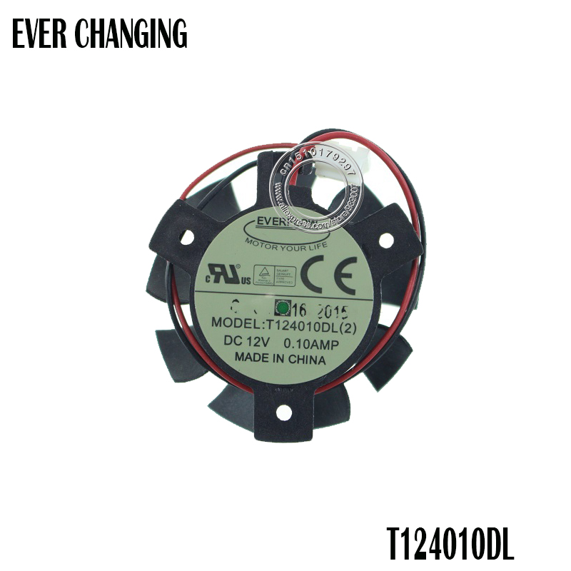 37MM T124010DL 2Pin 0.1A Cooler Fan Replace For ASUS Gt640 GT 640 HD 4550 HD5570 Video Card Cooling Fans
