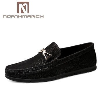 NORTHMARCH Big Size 36~46 Genuine Leather Men Shoes Loafers Moccasins Fashion Brand Men Flats Casual Driving Shoes Men Chaussure genuine leather slip on men loafers dress flats shoes big size 46 luxury brand loafers shoes fashion casual men shoes 8820