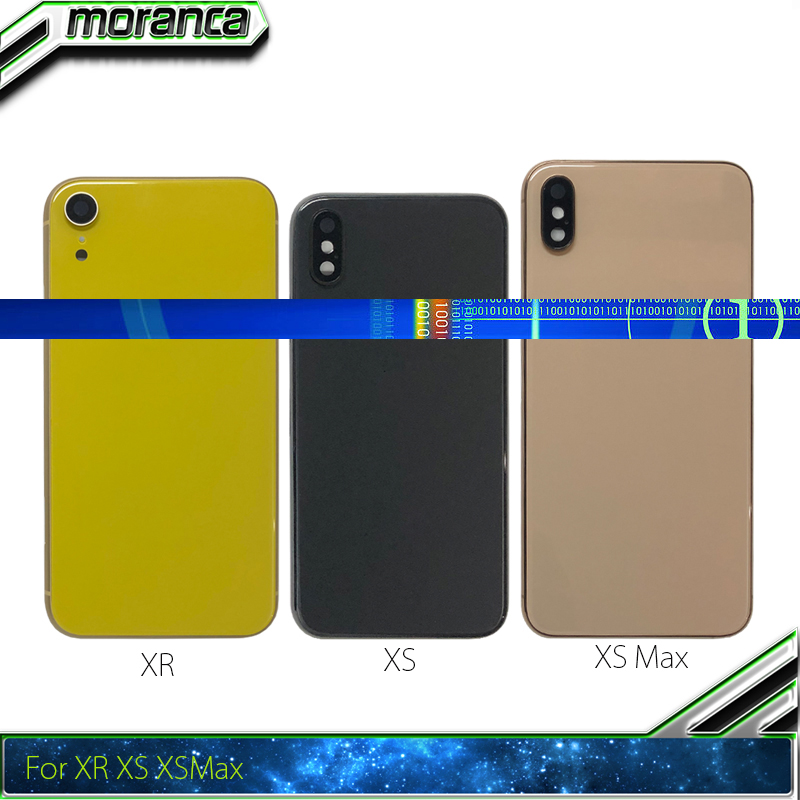 Best Quality For iPhone XS / XS Max / XR Back Door Battery Door Housing Metal Middle Frame with Glass Chassis Parts AssemblyBest Quality For iPhone XS / XS Max / XR Back Door Battery Door Housing Metal Middle Frame with Glass Chassis Parts Assembly