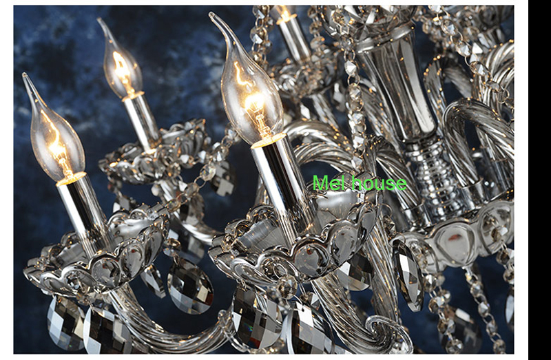 retro verlichting kroonluchters lamp Rook grijs kristallen - Binnenverlichting - Foto 4
