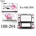 Pokemon Pink Yellow Protective Vinly Skin Sticker Gamepad Decal Skin Stickers Protector Cover Plates  For Old 3DS Controller