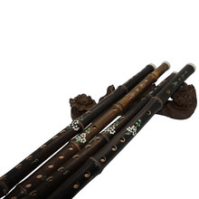 High Quality Chinese Purple Yunnan Bamboo Flute One Sections Traditional Handmade Dizi Musical Instruments