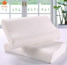 2018 Orthopedic pillow Adult Neck Fiber Slow Rebound Memory Foam Pillow Cervical Health Care Orthopedic Latex Neck Foam Pillow