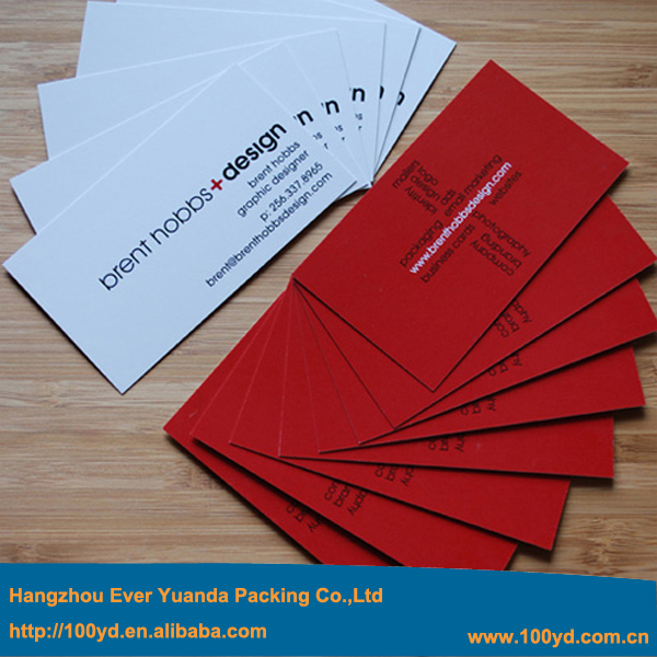 2016 Fashionable Cheap Paper Printing Business Cards Customized Cmyk