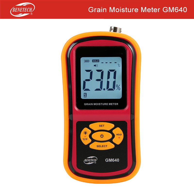 Tools : Grain Moisture Meter with Long Proble for Rice Coffee Wheat Hygrometer