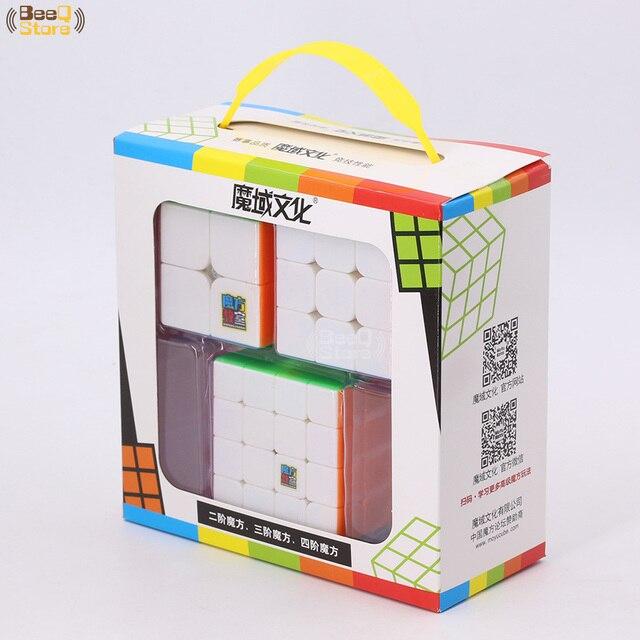 Mofangjiaoshi 3pcs 4pcs/Set  2x2 3x3 4x4 5x5 Magic Cube Speed Puzzle Gift Box Stickerless MF2 MF3 MF3rs MF4 MF5 Educational ToyPuzzles & Games