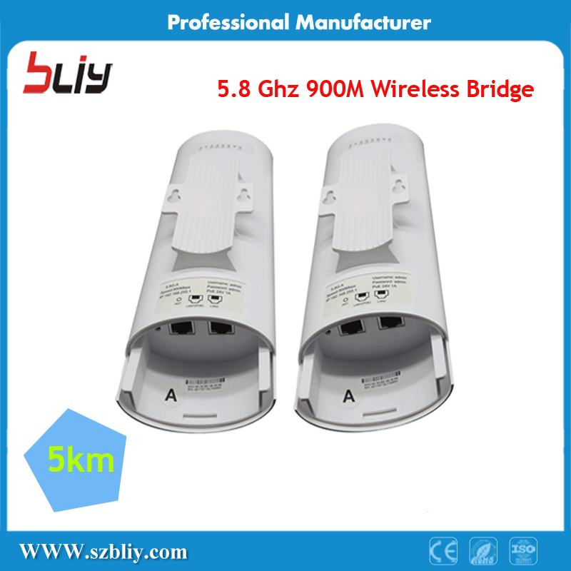 1 Pair 5km Wireless Bridge 5.8Ghz 900M Wifi AP CPE POE Wireless Lan Outdoor Internet Access Point To Point Network AP Router 5ports poe network switch wireless ap controller poe switch to manage access point wifi ap for ap ip camera