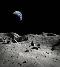 Espaço de Terra da lua Night Sky Terra Fotografia Fundos pano festa de Alta qualidade de impressão Computador pano de fundo de Vinil