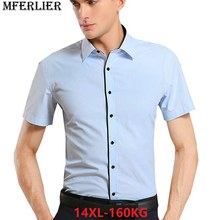 d8253183b1e0268 Летние мужские дешевые рубашки 7XL 8XL 9XL 10XL 12XL 14XL Большая  распродажа Большие размеры большой Формальные