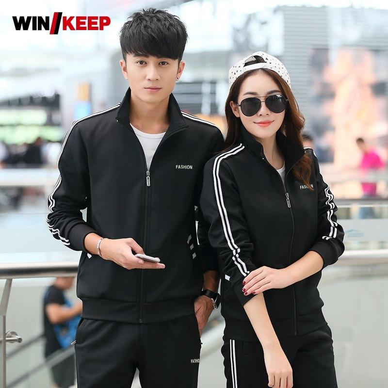 Men Women Tracksuit Sets Brand Tracksuits Sportswear Autumn Suit Sweatshirt With Pants Femme Hombre Mens Tracksuit Stand Collar