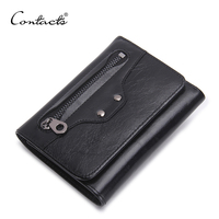 Brand Business 2016 Trifold Purse Wallet Men Genuine Leather Vintage Wallet Organizer Card Holders Dollar Price
